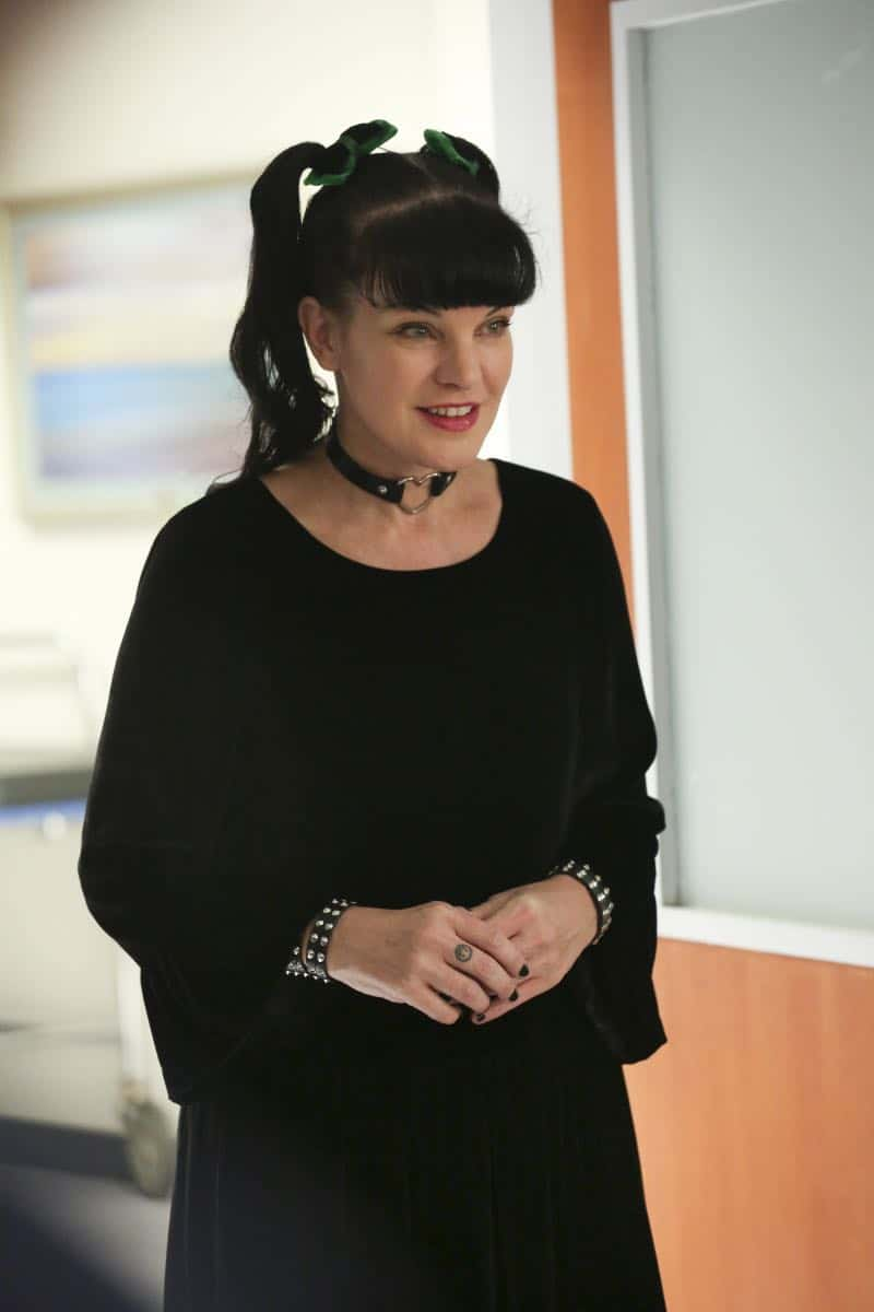 """Ready or Not"" -- The team's Thanksgiving plans are put on hold while they track an elusive international arms dealer in D.C. who recently murdered an MI6 officer who was Sloane's close friend. Also, Abby races Delilah (Margo Harshman) to the hospital when her labor starts three weeks early, on NCIS, Tuesday, Nov. 21 (8:00-9:00 PM, ET/PT) on the CBS Television Network. Pictured: Pauley Perrette  Photo: Michael Yarish/CBS ©2017 CBS Broadcasting, Inc. All Rights Reserved"