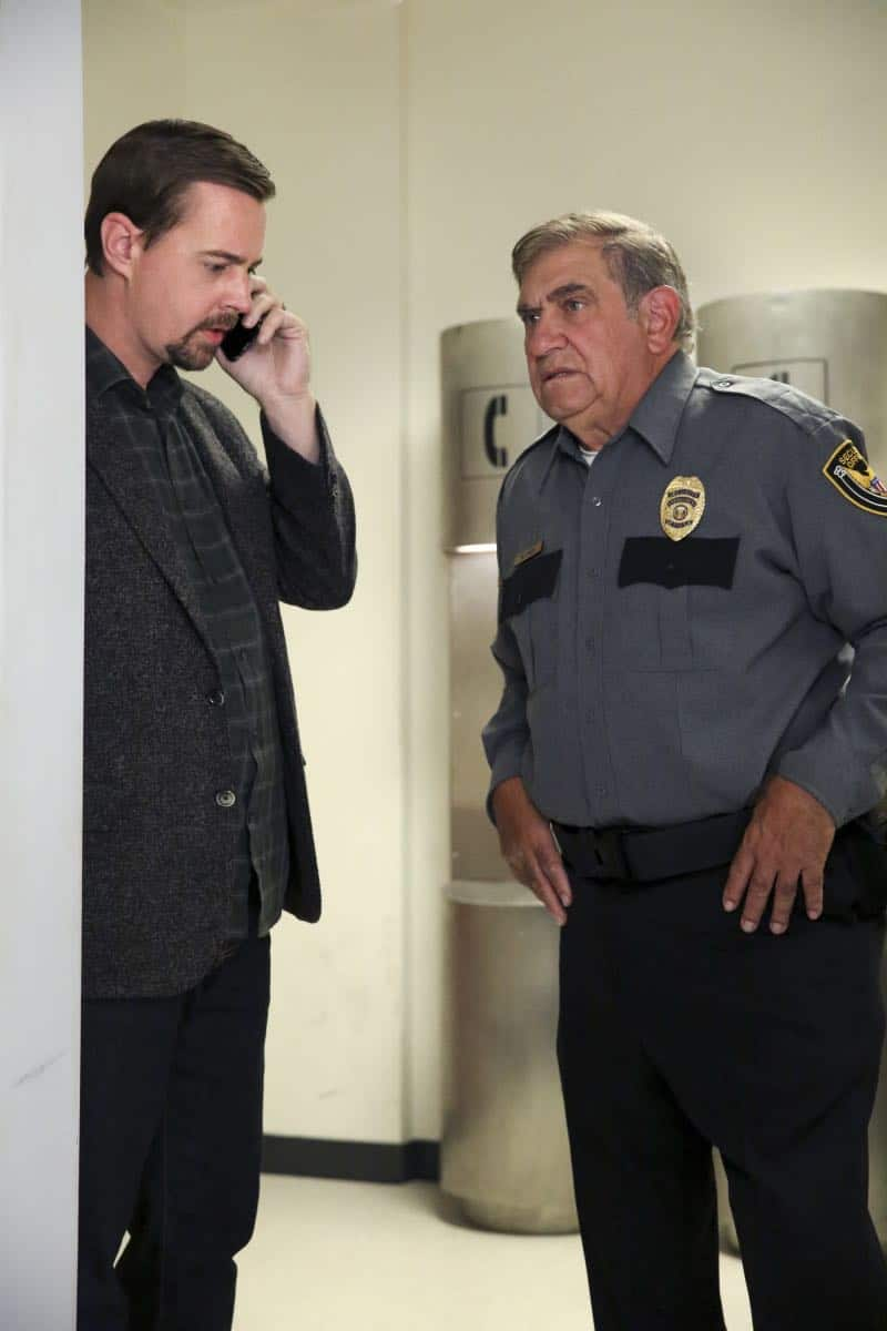 """Ready or Not"" -- The team's Thanksgiving plans are put on hold while they track an elusive international arms dealer in D.C. who recently murdered an MI6 officer who was Sloane's close friend. Also, Abby races Delilah (Margo Harshman) to the hospital when her labor starts three weeks early, on NCIS, Tuesday, Nov. 21 (8:00-9:00 PM, ET/PT) on the CBS Television Network. Pictured: Sean Murray, Dan Lauria  Photo: Michael Yarish/CBS ©2017 CBS Broadcasting, Inc. All Rights Reserved"
