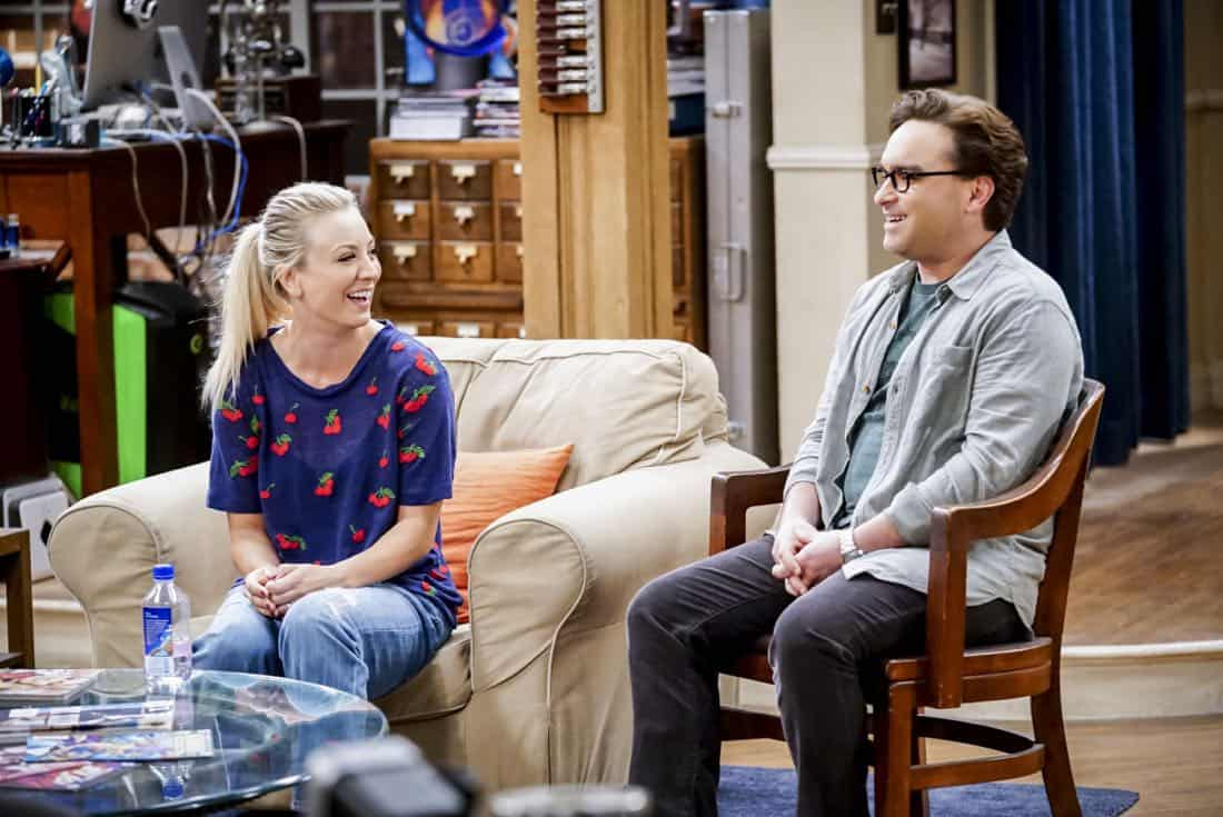"""The Confidence Erosion"" -- Pictured: Penny (Kaley Cuoco) and Leonard Hofstadter (Johnny Galecki). Sheldon and Amy try to eliminate stress from wedding planning by applying math to the process. Also, Koothrappali ""breaks up"" with Wolowitz after realizing his best friend is actually hurting his confidence, on THE BIG BANG THEORY, Thursday, Dec. 7 (8:00-8:31 PM, ET/PT) on the CBS Television Network. Photo: Monty Brinton/CBS ©2017 CBS Broadcasting, Inc. All Rights Reserved."