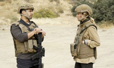 """Double Down"" -- As Torres and Sloane run protection detail for U.S. Senator John Phillips (James Morrison) in Afghanistan for the holidays, they must urgently return to the states after hearing the senator's son is in the ICU. Also, Gibbs and the team investigate the altercation that caused the life threatening injuries to the senator's son, on NCIS, Tuesday, Dec. 12 (8:00-9:00 PM, ET/PT) on the CBS Television Network. Pictured:Wilmer Valderramma, Maria Bello. Photo: Cliff Lipson/CBS ©2017 CBS Broadcasting, Inc. All Rights Reserved"