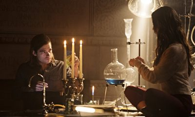 "THE MAGICIANS -- ""The Tales of Seven Keys"" Episode 301 -- Pictured: (l-r) Jason Ralph as Quentin Coldwater, Stella Maeve as Julia Wicker -- (Photo by: Eike Schroter/Syfy)"