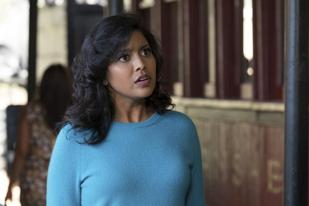 """THE GOOD PLACE -- """"Leap Into Faith"""" Episode 209 -- Pictured: Tiya Sircar as Vicky -- (Photo by: Colleen Hayes/NBC)"""
