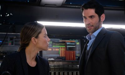 "LUCIFER: L-R: Lauren German and Tom Ellis in the ""All About Her"" episode of LUCIFER airing Monday, Jan. 22 (8:00-9:00 PM ET/PT) on FOX. CR: FOX"