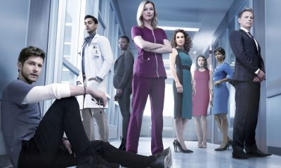 THE RESIDENT: L-R: Matt Czuchry, Manish Dayal, Shaunette Renée Wilson, Emily VanCamp, Melina Kanakaredes, Moran Atias, Merrin Dungey and Bruce Greenwood. THE RESIDENT premieres Sunday, Jan. 21 (10:00-11:00 PM ET/7:00-8:00 PM PT), following the NFC CHAMPIONSHIP GAME, and makes its time period premiere on Monday, Jan. 22 (9:00-10:00 PM ET/PT).on FOX. ©2017 Fox Broadcasting Co. Cr: Justin Stephens/FOX