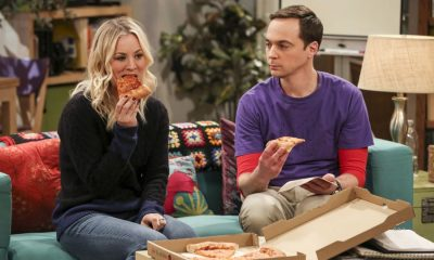"""The Solo Oscillation"" -- Pictured: Penny (Kaley Cuoco) and Sheldon Cooper (Jim Parsons). When Sheldon kicks Amy out to work solo, she and Leonard bond during a series of science experiments. Also, Bert the geologist replaces Wolowitz in the band Footprints on the Moon, and Sheldon finds Penny a surprising source of scientific inspiration, on THE BIG BANG THEORY, Thursday, Jan. 11 (8:00-8:31 PM, ET/PT) on the CBS Television Network. Laurie Metcalf returns as Sheldon's mother, Mary. Photo: Michael Yarish/Warner Bros. Entertainment Inc. © 2017 WBEI. All rights reserved."
