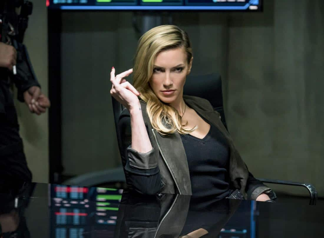 "Arrow -- ""Divided"" -- Image Number: AR610a_0264.jpg -- Pictured: Katie Cassidy as Laurel Lance/Black Siren -- Photo: Daniel Power/The CW -- © 2018 The CW Network, LLC. All Rights Reserved."