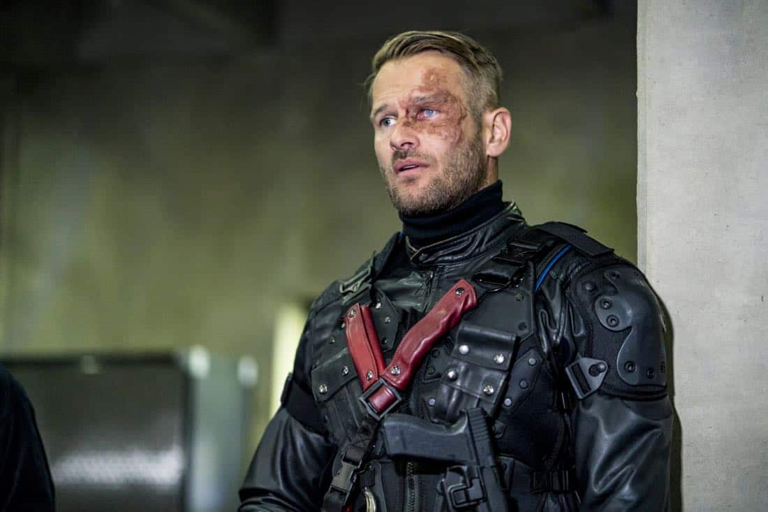"Arrow -- ""Divided"" -- Image Number: AR610a_0281.jpg -- Pictured: Johann Urb as Sonny Pederson -- Photo: Daniel Power/The CW -- © 2018 The CW Network, LLC. All Rights Reserved."