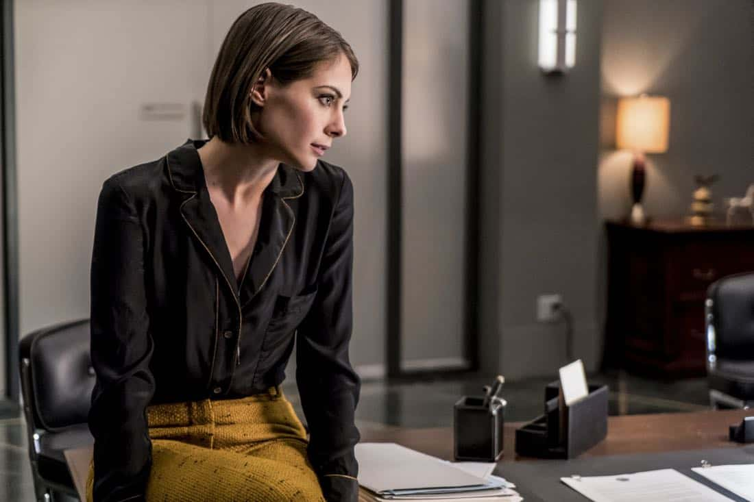 "Arrow -- ""Divided"" -- Image Number: AR610b_0058.jpg -- Pictured: Willa Holland as Thea Queen/Speedy -- Photo: Daniel Power/The CW -- © 2018 The CW Network, LLC. All Rights Reserved."