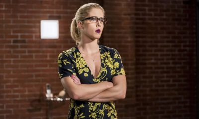 """Arrow -- """"Divided"""" -- Image Number: AR610b_.jpg -- Pictured: Emily Bett Rickards as Felicity Smoak -- Photo: Daniel Power/The CW -- © 2018 The CW Network, LLC. All Rights Reserved."""