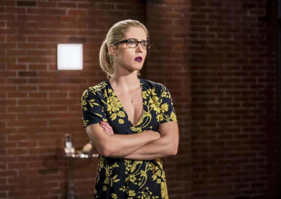 "Arrow -- ""Divided"" -- Image Number: AR610b_.jpg -- Pictured: Emily Bett Rickards as Felicity Smoak -- Photo: Daniel Power/The CW -- © 2018 The CW Network, LLC. All Rights Reserved."