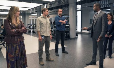 "BLINDSPOT -- ""Hot Burning Flames"" Episode 309 -- Pictured: (l-r) Ashley Johnson as Patterson, Chad Donella as Jake Keaton, Sullivan Stapleton as Kurt Weller, Rob Brown as Edgar Reade, Audrey Esparza as Tasha Zapata -- (Photo by: Barbara Nitke/NBC/Warner Bros)"