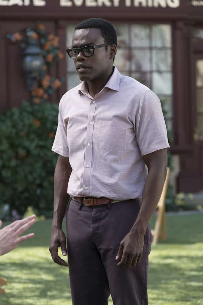 "THE GOOD PLACE -- ""Best Self"" Episode 210 -- Pictured: William Jackson Harper as Chidi -- (Photo by: Colleen Hayes/NBC)"