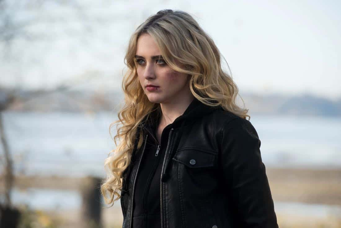 """Supernatural -- """"Wayward Sisters"""" -- Image Number: SN1310c_0099.jpg -- Pictured: Kathryn Newton as Claire -- Photo: Dean Buscher/The CW -- © 2017 The CW Network, LLC All Rights Reserved"""