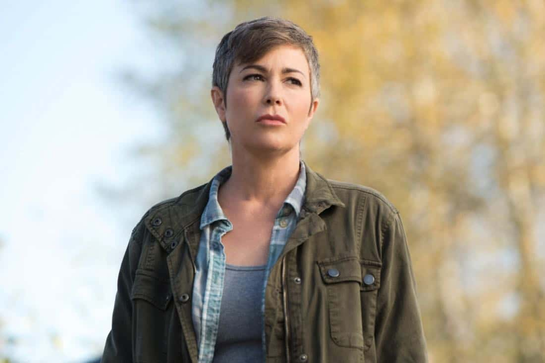 """Supernatural -- """"Wayward Sisters"""" -- Image Number: SN1310c_0172.jpg -- Pictured: Kim Rhodes as Jody Mills -- Photo: Dean Buscher/The CW -- © 2017 The CW Network, LLC All Rights Reserved"""