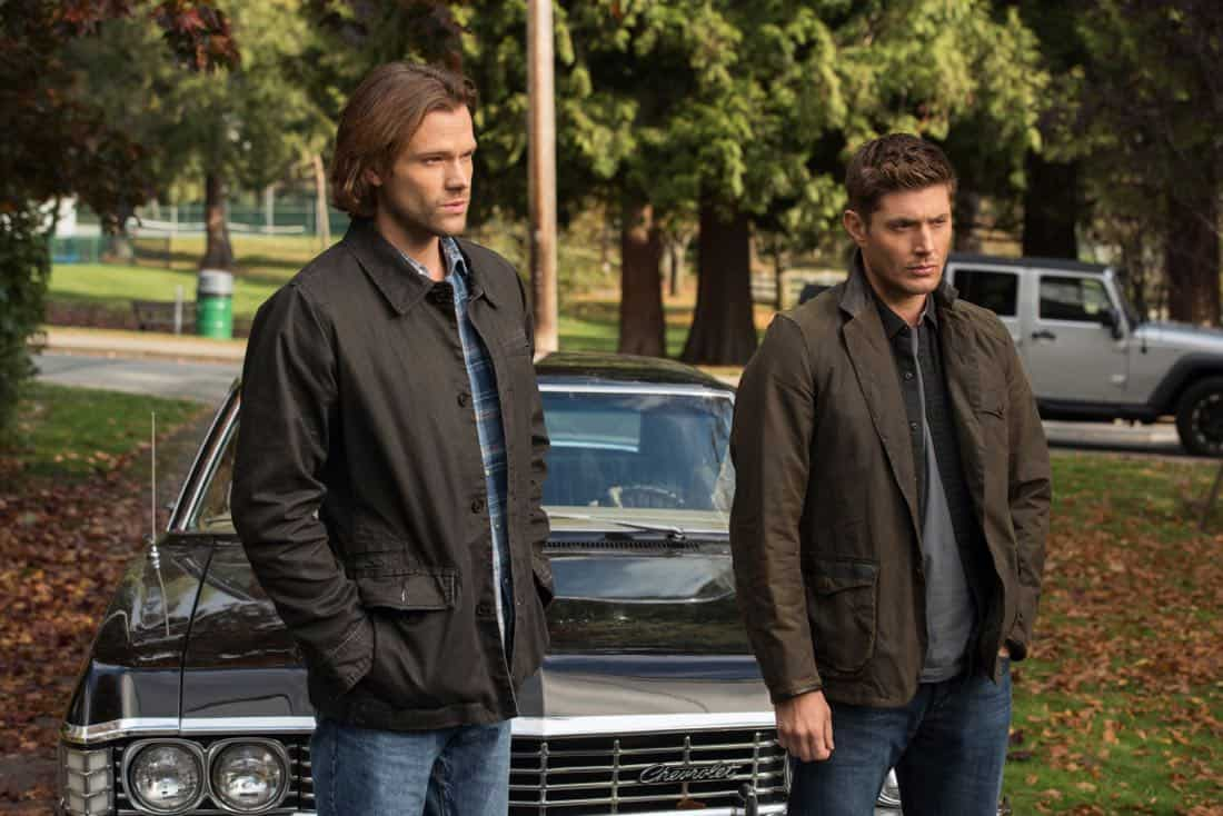 """Supernatural -- """"Wayward Sisters"""" -- Image Number: SN1310d_0079.jpg -- Pictured (L-R):Jared Padalecki as Sam and Jensen Ackles as Dean -- Photo: Dean Buscher/The CW -- © 2017 The CW Network, LLC All Rights Reserved"""