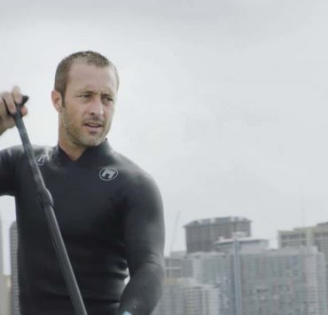 """""""O ka mea ua hala, ua hala ia.""""-- When a man accused of killing his wife threatens to commit suicide, Grover reveals how he too was once on the brink of taking his own life, on HAWAII FIVE-0, Friday, Jan. 12 (9:00-10:00 PM, ET/PT) on the CBS Television Network. Chi McBride appears in a PSA for the National Suicide Prevention Lifeline at the end of the episode. Pictured: Alex O'Loughlin as Steve McGarrett. Photo credit: Screengrab/©2017 CBS Broadcasting, Inc. All Rights Reserved. (""""O ka mea ua hala, ua hala ia."""" is Hawaiian for """"What is Gone is Gone."""")"""