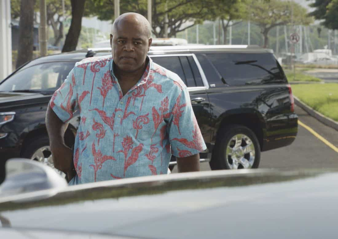 """O ka mea ua hala, ua hala ia.""-- When a man accused of killing his wife threatens to commit suicide, Grover reveals how he too was once on the brink of taking his own life, on HAWAII FIVE-0, Friday, Jan. 12 (9:00-10:00 PM, ET/PT) on the CBS Television Network. Chi McBride appears in a PSA for the National Suicide Prevention Lifeline at the end of the episode. Pictured: Chi McBride as Lou Grover. Photo credit: Screengrab/©2017 CBS Broadcasting, Inc. All Rights Reserved.   (""O ka mea ua hala, ua hala ia."" is Hawaiian for ""What is Gone is Gone."")"