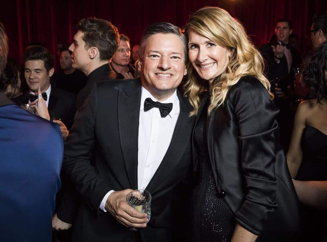 Golden Globes 2018 - Ted Sarandos, Laura Dern