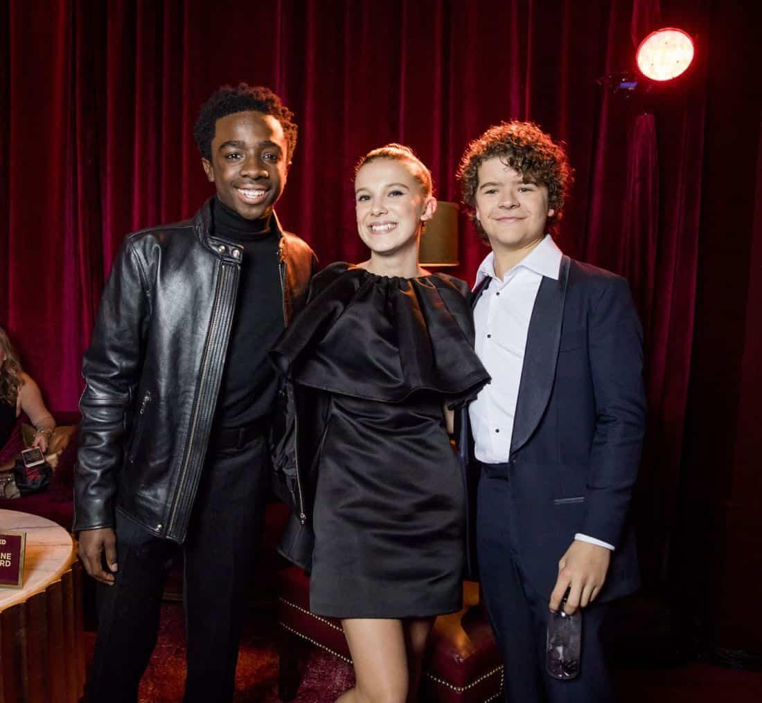 Golden Globes 2018 - Caleb McLaughlin, Millie Bobby Brown, Gaten Matarazzo