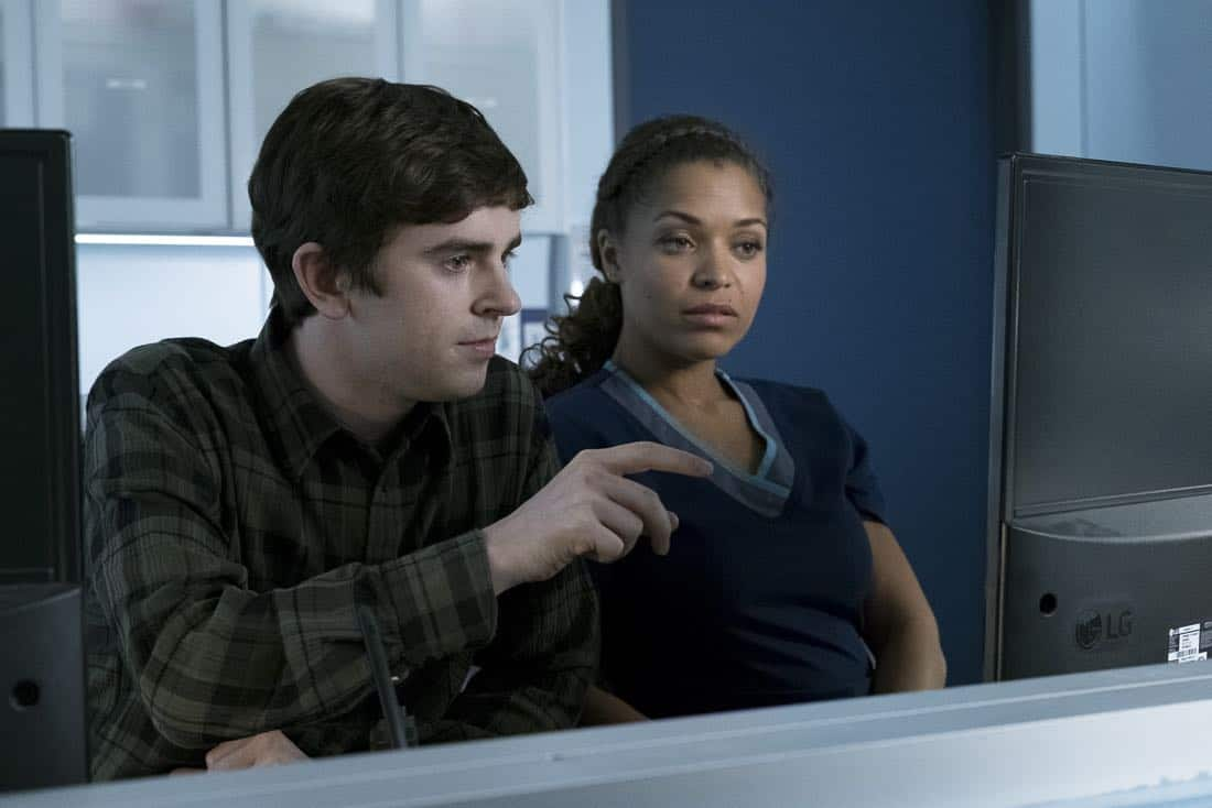 "THE GOOD DOCTOR - ""Islands Part Two"" - The twins suffer complications from their surgery forcing the team at San Jose Boneventure Hospital to make a life-changing decision. Meanwhile, Dr. Shaun Murphy returns to the hospital after his trip with Lea and decides he needs a more permanent change and gives Dr. Aaron Glassman his two weeks' notice, on ""The Good Doctor,"" MONDAY, JAN. 15 (10:01-11:00 p.m. EST), on The ABC Television Network.  (ABC/Eike Schroter) FREDDIE HIGHMORE, ANTONIA THOMAS"