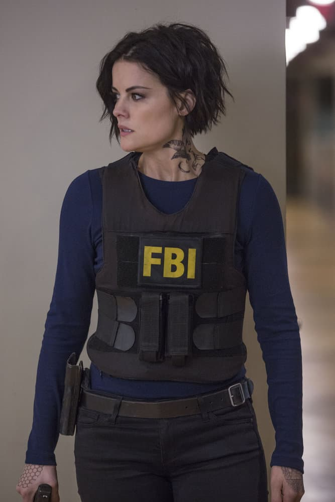 "BLINDSPOT -- ""Balance of Might"" Episode 310 -- Pictured: Jaimie Alexander as Jane Doe -- (Photo by Eric Liebowitz/NBC/Warner Bros)"