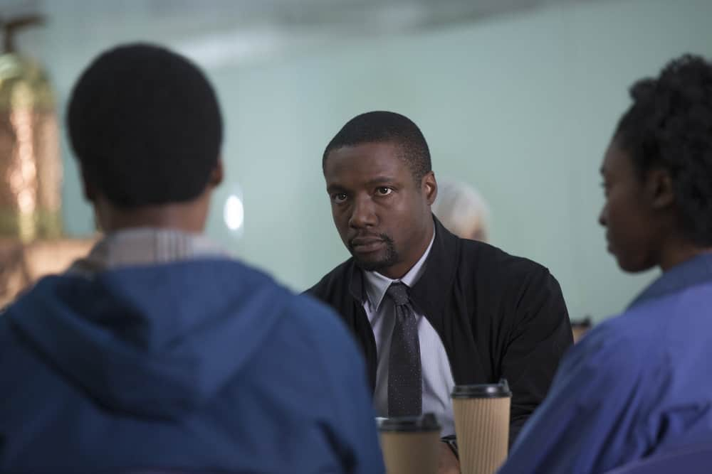 """BLINDSPOT -- """"Balance of Might"""" Episode 310 -- Pictured: Rob Brown as Edgar Reade -- (Photo by Eric Liebowitz/NBC/Warner Bros)"""