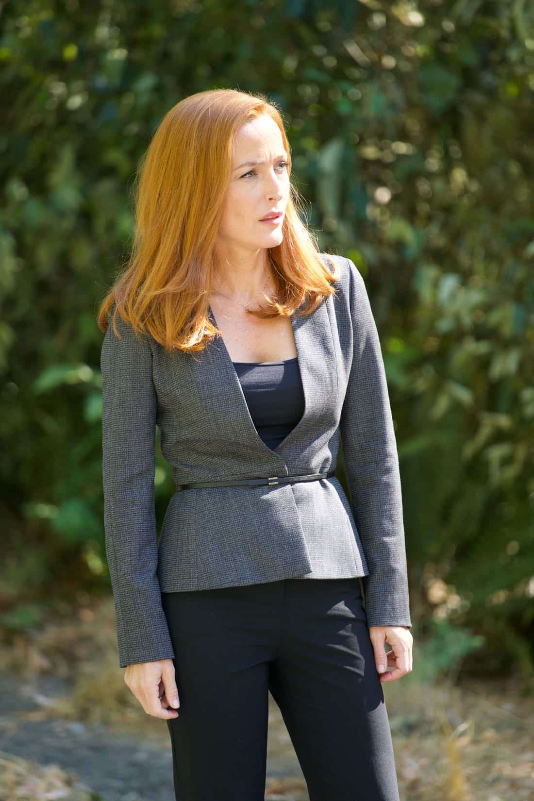 "THE X-FILES: Gillian Anderson in the ""Plus One"" episode of THE X-FILES airing Wednesday, Jan. 17 (8:00-9:00 PM ET/PT) on FOX. ©2017 Fox Broadcasting Co. Cr: Shane Harvey/FOX"
