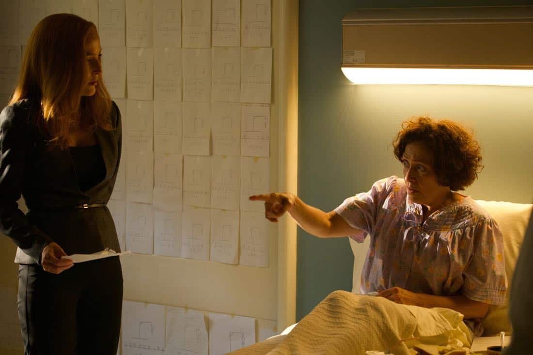 "THE X-FILES: L-R: Gillian Anderson and guest star Karin Konoval in the ""Plus One"" episode of THE X-FILES airing Wednesday, Jan. 17 (8:00-9:00 PM ET/PT) on FOX. ©2017 Fox Broadcasting Co. Cr: Shane Harvey/FOX"