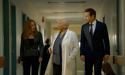 "THE X-FILES: L-R: Gillian Anderson, guest star Denise Dowse and David Duchovny in the ""Plus One"" episode of THE X-FILES airing Wednesday, Jan. 3 (8:00-9:00 PM ET/PT) on FOX. ©2017 Fox Broadcasting Co. Cr: Shane Harvey/FOX"