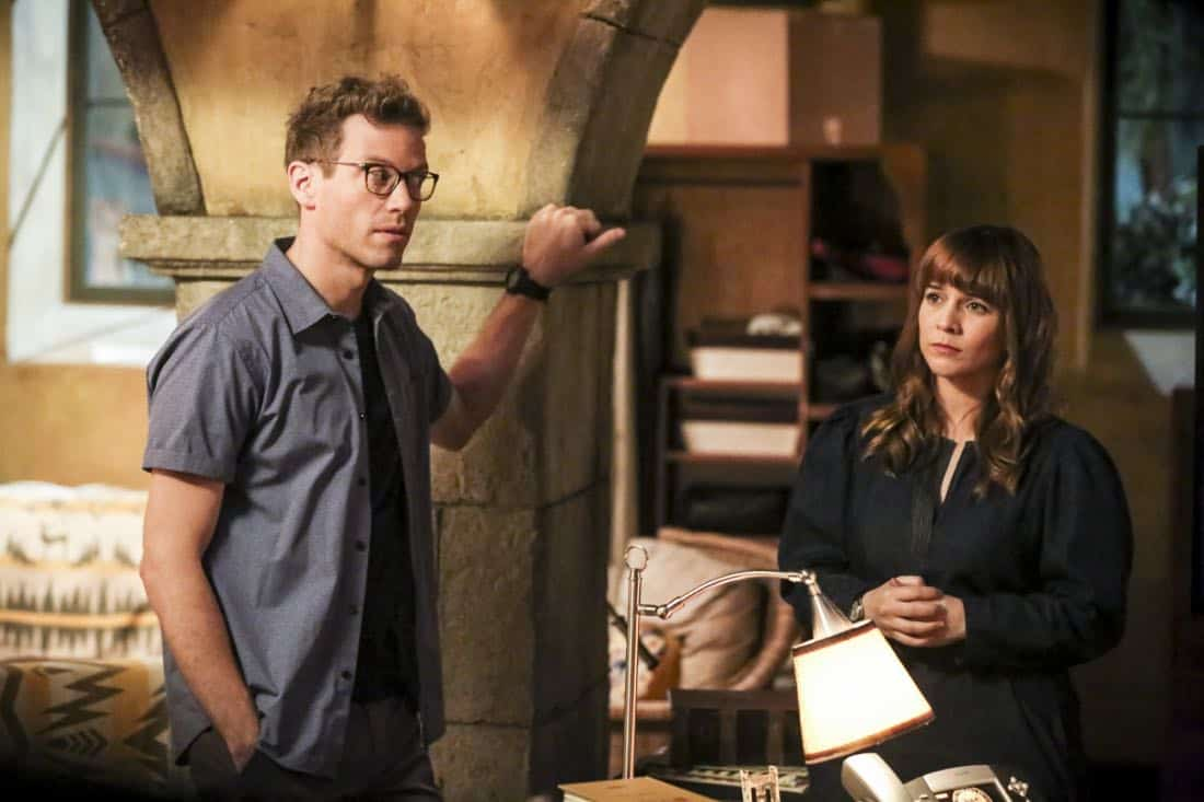 """Cac Tu Nhan"" -- Pictured: Barrett Foa (Tech Operator Eric Beale) and Renée Felice Smith (Intelligence Analyst Nell Jones). While Hetty is being tortured by her captors in Vietnam, Eric and Nell find a clue to her whereabouts, prompting the team to organize a rescue mission with very little information, on NCIS: LOS ANGELES, Sunday, Jan. 14 (9:00-10:00 PM, ET/PT) on the CBS Television Network. Carl Lumbly guest stars as Charles Langston and John M. Jackson guest stars as A.J. Chegwidden. Photo: Michael Yarish/CBS ©2017 CBS Broadcasting, Inc. All Rights Reserved."