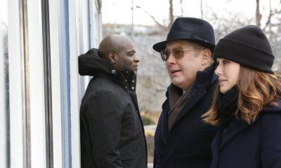 "THE BLACKLIST -- ""Tommy Wattles (#56)"" Episode 512 -- Pictured: (l-r) Hisham Tawfiq as Dembe Zuma, James Spader as Raymond ""Red"" Reddington, Megan Boone as Elizabeth Keen -- (Photo by: Will Hart/NBC)"