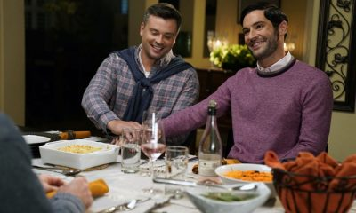 "LUCIFER: L-R: Tom Welling and Tom Ellis in the ""Til Death Do Us Part"" episode of LUCIFER airing Monday, Jan. 29 (8:00-9:00 PM ET/PT) on FOX. CR: FOX"