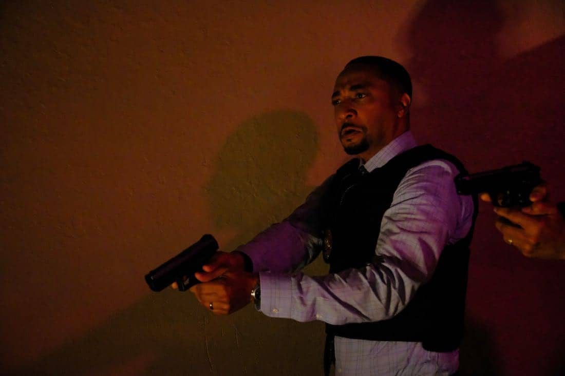"""Black Lightning -- """"LaWanda: The Book of Hope"""" -- Image BLK102a_0139.jpg  -- Pictured: Damon Gupton as Inspector Bill Henderson -- Photo: Guy D'Alema/The CW -- © 2018 The CW Network, LLC. All rights reserved."""