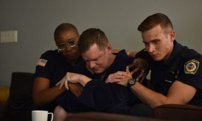 "911: L-R: Aisha Hinds, Peter Krause and Oliver Stark in the all-new ""Worst Day Ever"" episode of 9-1-1 airing Wednesday, Jan. 24 (9:00-10:00 PM ET/PT) on FOX. CR: FOX. © 2018 FOX Broadcasting."