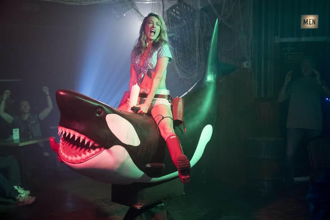 The Detour Season 3 Episode 2 Natalie Zea Riding Orca Whale Shark Bull Ride