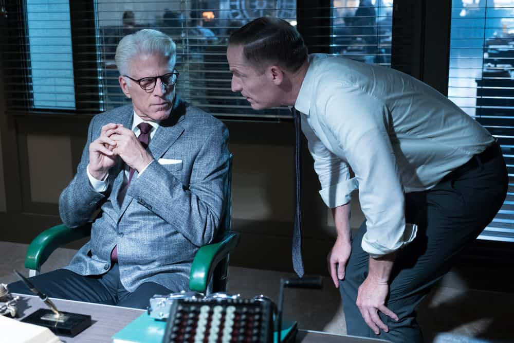 """THE GOOD PLACE -- """"The Burrito"""" Episode 212 -- Pictured: (l-r) Ted Danson as Michael, Marc Evan Jackson as Shawn -- (Photo by: Colleen Hayes/NBC)"""