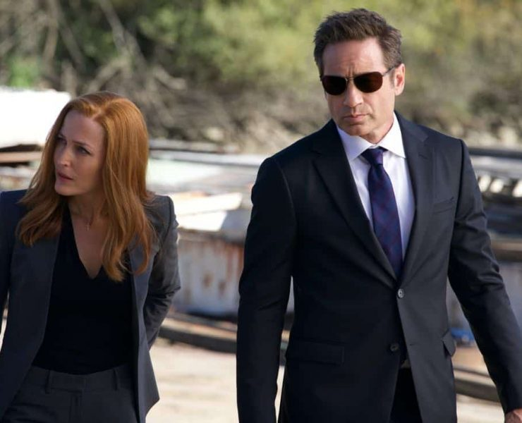 """THE X-FILES: L-R: Gillian Anderson and David Duchovny in the """"Ghouli"""" episode of THE X-FILES airing Wednesday, Jan. 31 (8:00-9:00 PM ET/PT) on FOX. ©2018 Fox Broadcasting Co. Cr: Shane Harvey/FOX"""