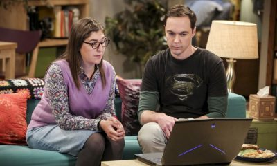 """The Novelization Correlation"" -- Pictured: Amy Farrah Fowler (Mayim Bialik) and Sheldon Cooper (Jim Parsons). When Sheldon petitions Wil Wheaton to appear on the new Professor Proton show, Wil offers a role to Amy instead. Also, Penny gets angry when she thinks the female protagonist in Leonard's novel is based on her, on THE BIG BANG THEORY, Thursday, Feb. 1 (8:00-8:31 PM, ET/PT), on the CBS Television Network. Christine Baranski and Wil Wheaton return to guest star. Photo: Michael Yarish/Warner Bros. Entertainment Inc. © 2018 WBEI. All rights reserved."