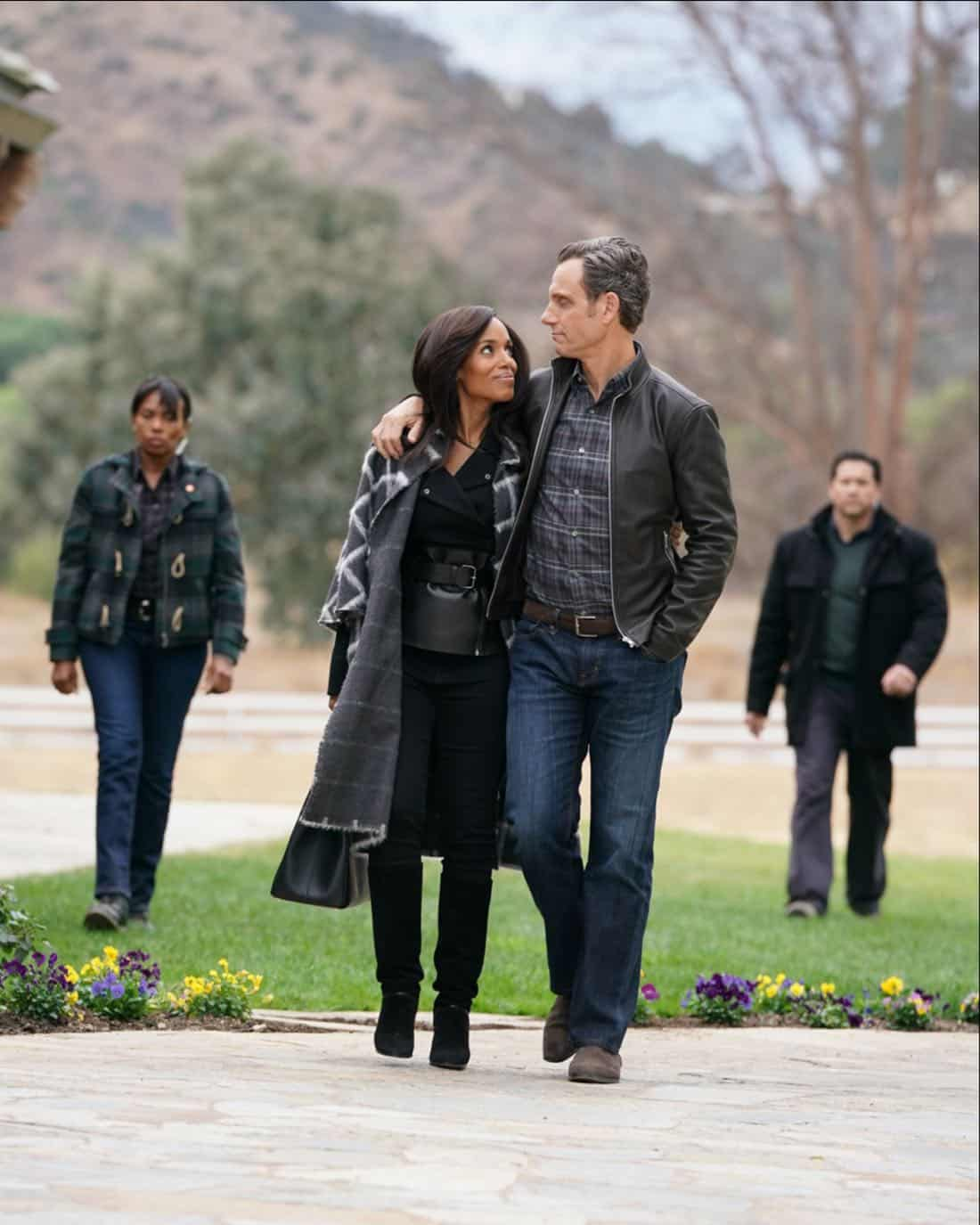 """SCANDAL - """"The People v. Olivia Pope"""" - When Olivia agrees to join Fitz in Vermont for what she thinks will be a relaxing getaway, she is shocked to find that her closest friends have orchestrated a relentless intervention. Back in Washington, Cyrus finally reveals his suspicions to Mellie about Olivia and Jake's extracurricular activities, on """"Scandal,"""" airing THURSDAY, FEB. 1 (9:00-10:00 p.m. EST), on The ABC Television Network. (ABC/Mitch Haaseth)<br />"""