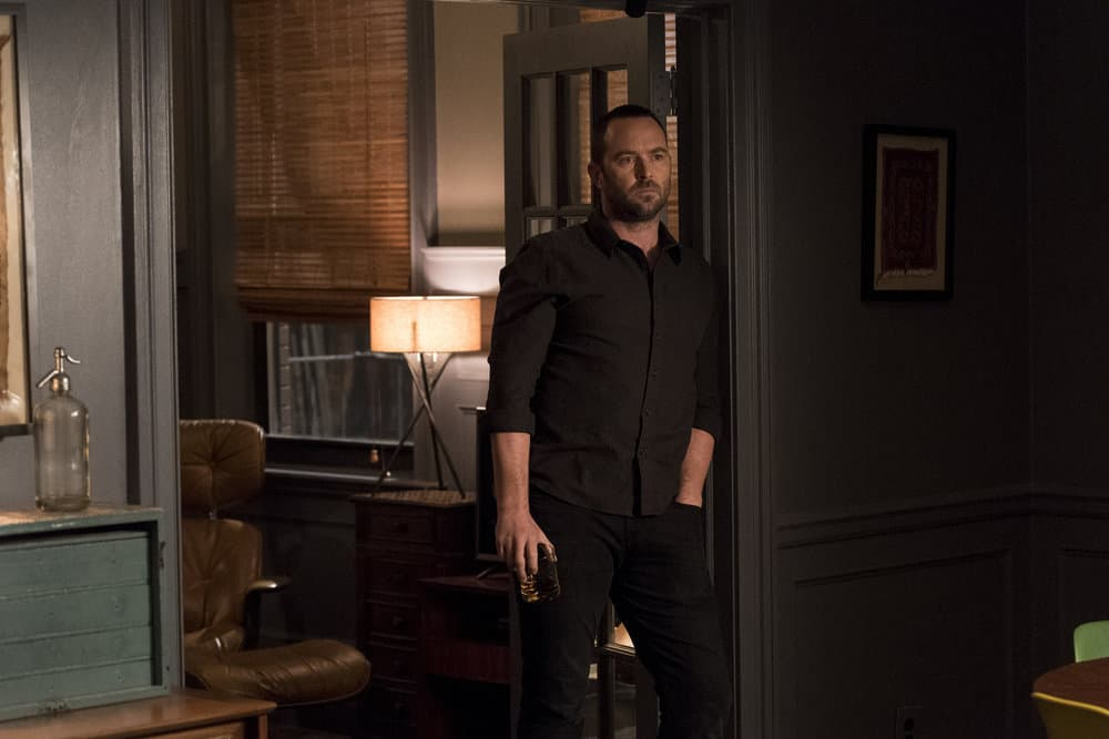 "BLINDSPOT -- ""Two Legendary Chums"" Episode 312 --  Pictured: Sullivan Stapleton as Kurt Weller -- (Photo by: David Giesbrecht/NBC/Warner Bros.)"