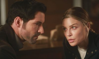 "LUCIFER: L-R: Tom Ellis and Lauren German in the ""My Brother's Keeper"" episode of LUCIFER airing Monday, Feb. 5 (8:00-9:00 PM ET/PT) on FOX. CR: JORDIN ALTHAUS/FOX"