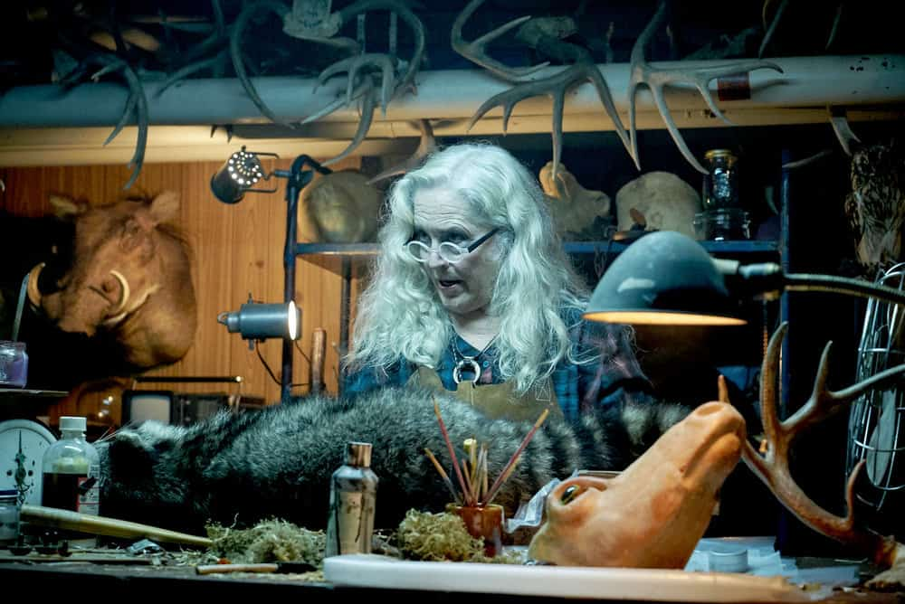 """CHANNEL ZERO: BUTCHER'S BLOCK -- """"Insidious Onset"""" Episode 301 -- Pictured: Krisha Fairchild as Louise Lispector -- (Photo by: Allen Fraser/Syfy)"""