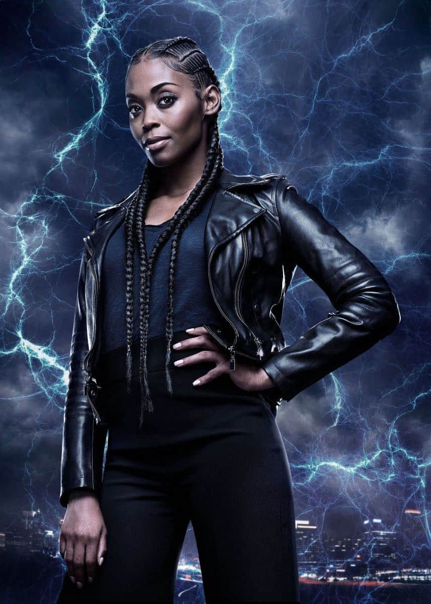 Black Lightning -- Image BLK_SINGLES_ANISSA.jpg -- Pictured: Nafessa Williams as Anissa Pierce -- Photo: Mark Hill/The CW -- © 2018 The CW Network, LLC. All rights reserved