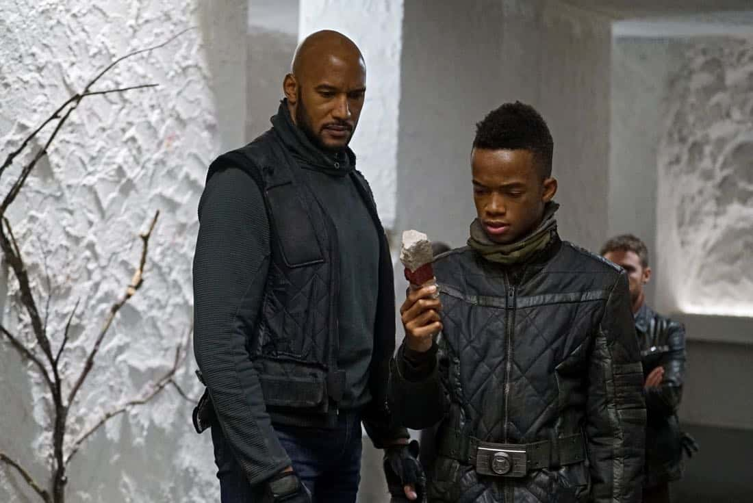 """MARVEL'S AGENTS OF S.H.I.E.L.D. - """"Past Life"""" - S.H.I.E.L.D. has one final chance to return to our timeline, but their actions may have deadly consequences, on """"Marvel's Agents of S.H.I.E.L.D.,"""" FRIDAY, FEB. 2 (9:00-10:01 p.m. EST), on The ABC Television Network.  (ABC/Eric McCandless) HENRY SIMMONS, COY STEWART"""