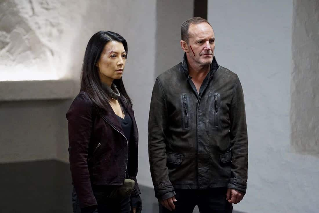 """MARVEL'S AGENTS OF S.H.I.E.L.D. - """"Past Life"""" - S.H.I.E.L.D. has one final chance to return to our timeline, but their actions may have deadly consequences, on """"Marvel's Agents of S.H.I.E.L.D.,"""" FRIDAY, FEB. 2 (9:00-10:01 p.m. EST), on The ABC Television Network. (ABC/Eric McCandless) MING-NA WEN, CLARK GREGG"""