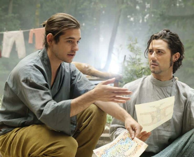"THE MAGICIANS -- ""A Life in the Day"" Episode 305 -- Pictured: (l-r) Jason Ralph as Quentin Coldwater, Hale Appleman as Eliot Waugh -- (Photo by: Eric Milner/Syfy)"