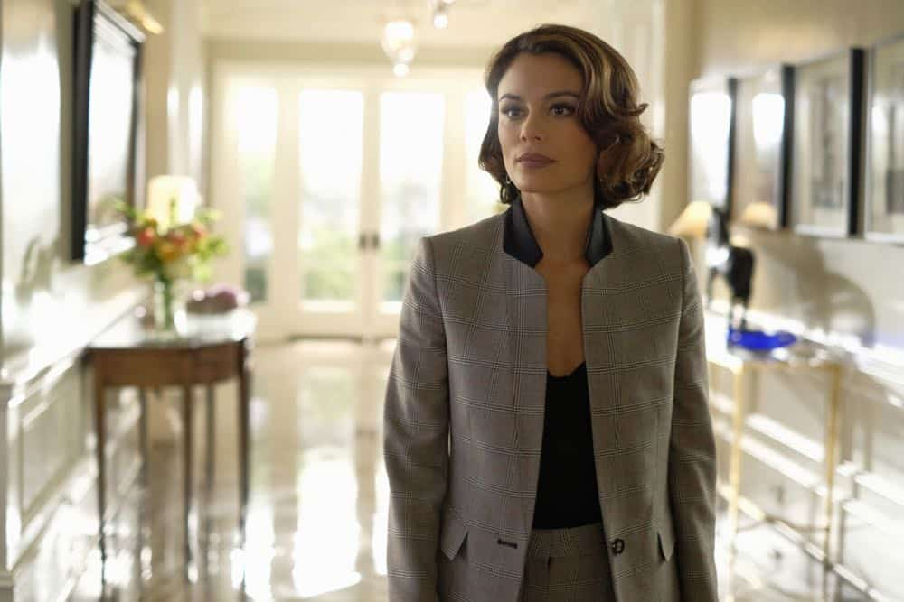 """Dynasty -- """"Nothing But Trouble"""" -- Image Number: DYN113a_0222b.jpg -- Pictured: Nathalie Kelley as Cristal -- Photo: Mark Hill/The CW -- © 2018 The CW Network, LLC. All Rights Reserved."""