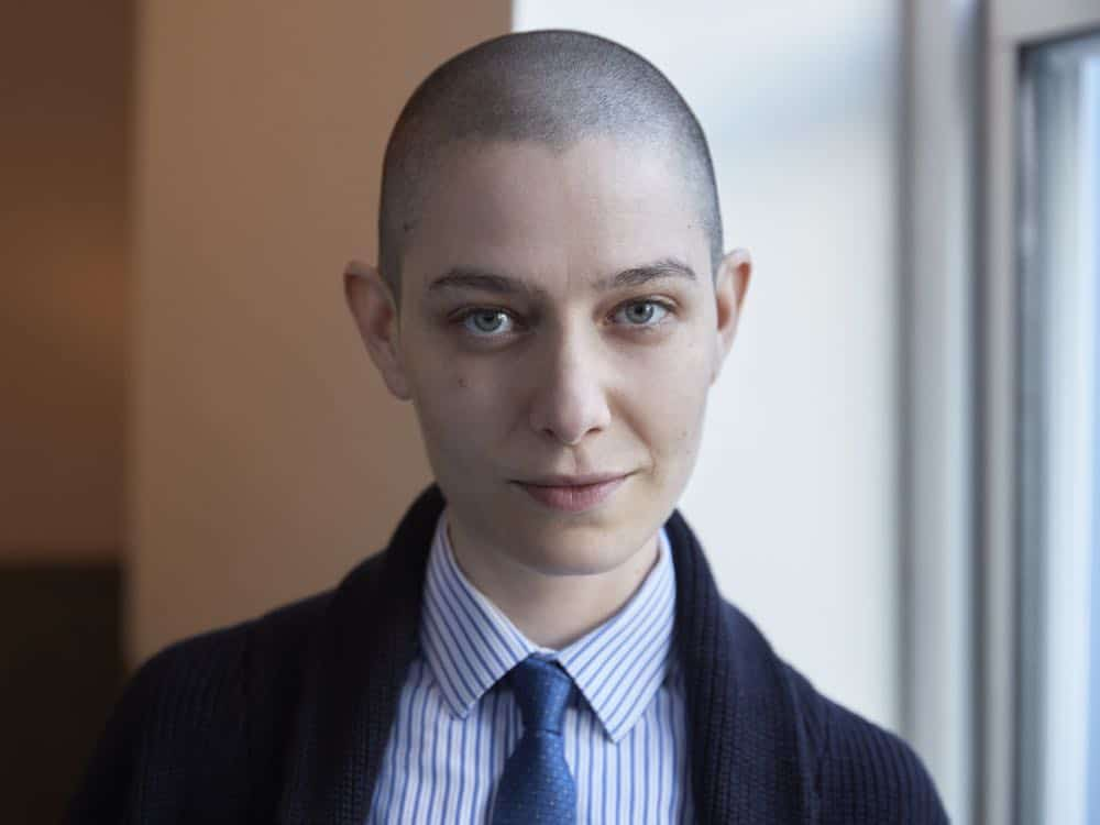 PR Art for Season 3 of the SHOWTIME original series BILLIONS - Photo: Jim Fiscus/SHOWTIME - Photo ID: BILLIONS_S3_singles_taylor_0022r.jpg Pictured: Asia Kate Dillon as Taylor