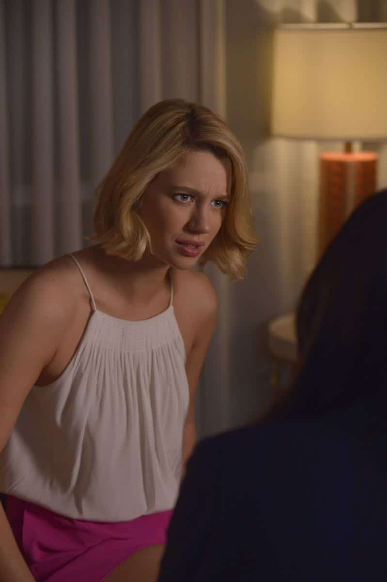 "Jane The Virgin -- ""Chapter Seventy-Four"" -- Image Number: JAV410c_0106.jpg -- Pictured: Yael Grobglas as Petra -- Photo: Lisa Rose/The CW -- © 2018 The CW Network, LLC. All Rights Reserved."