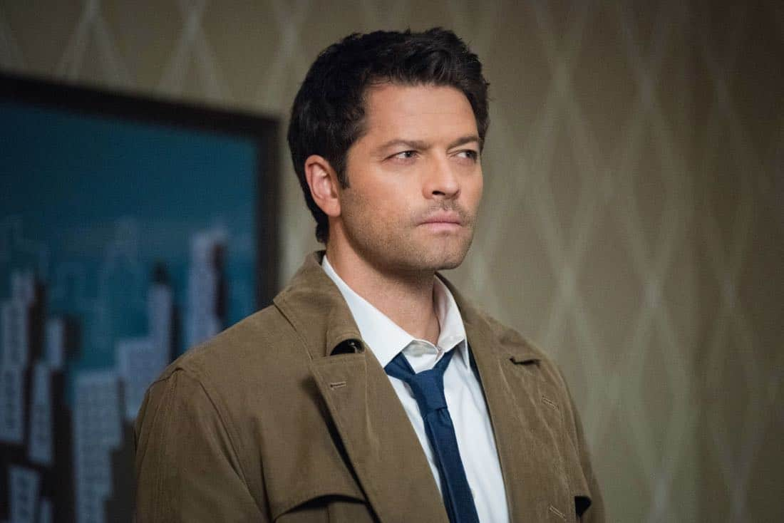 "Supernatural -- ""Devil's Bargain"" -- Image Number: SN1313a_0144b.jpg -- Pictured: Misha Collins as Castiel -- Photo: Dean Buscher/The CW -- © 2018 The CW Network, LLC All Rights Reserved"